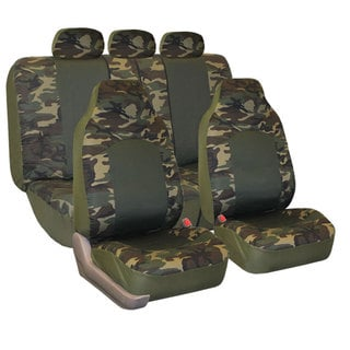 FH Group Camouflage Airbag-safe Car Seat Covers (Full Set)