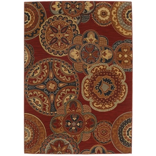 Karastan English Manor Chesterfield Red Rug (8' x 10'5)