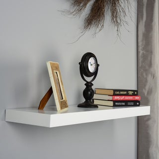 Harper Blvd Tampa 36-inch White Floating Shelf
