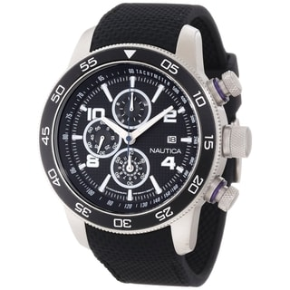 Nautica Men's 'Sport N20101G' Black Resin Black Dial Quartz Watch