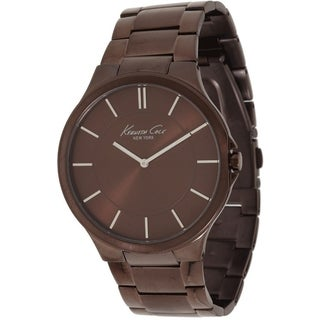 Kenneth Cole Men's 'Newness KC9169' Brown Stainless Steel Brown Dial Quartz Watch