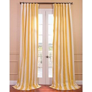 Cabana Yellow Printed Cotton Curtain Panel