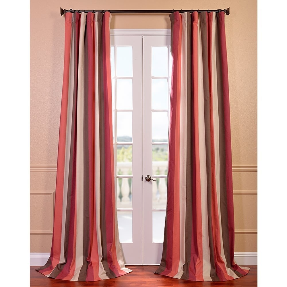 EFF Picante Stripes Printed Cotton Curtain Panel at Sears.com