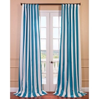 Cabana Teal Printed Cotton Curtain Panel