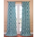 Tide Pools Printed Cotton Curtain Panel