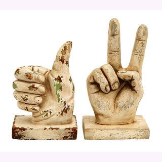 Polystone Gesture Decorative Sculptures (Set of 2)