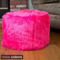 Christopher Knight Home 'Skyler' Faux Fur Cube Ottoman Bean Bag