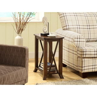 Cherry Brown Veneer Accent Side Table