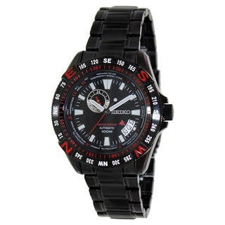 Seiko Men's 'Superior' Black Stainless Steel Automatic Watch