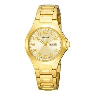 Pulsar Women's 'PXU036' Functional Goldtone Watch