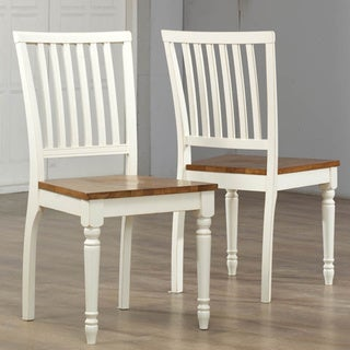 Antique White Oak Dining Chair (Set of 2)