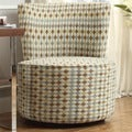 Moda Geometric Print Modern Round Swivel Chair