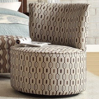 Moda Chain-Link Print Modern Round Swivel Chair
