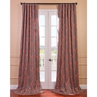 Panama Printed Cotton Curtain Panel Pair