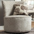 Moda Grey Bracket Chain Print Modern Round Swivel Chair