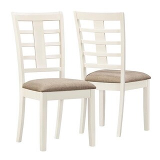 Pearl White Linen Side Chairs (Set of 2)