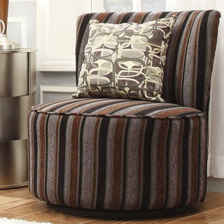 INSPIRE Q Damen Dark Tonal Stripe Modern Round Swivel Chair