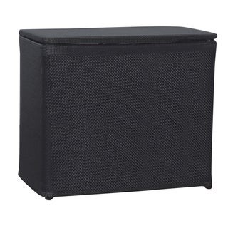 1530 Lamont Home Basketweave Black Bench Hamper