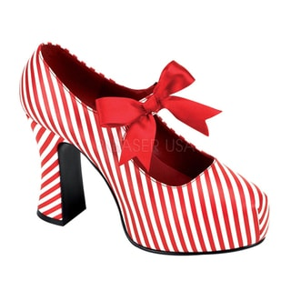 Funtasma Women's 'Candycane-48' Striped Chunky Heel Pumps