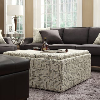 INSPIRE Q Montrose US Geographic Storage Cocktail Ottoman