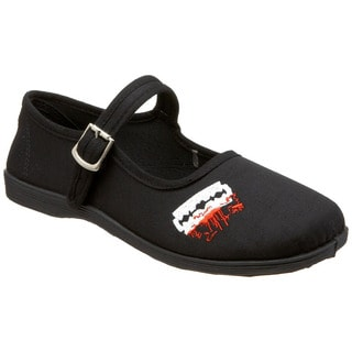 Demonia Women's 'Sassie-14' Black Bloody Razor Mary Jane Flats