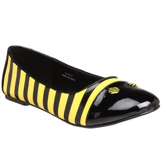 Funtasma Women's 'Bee-16' Bumble Bee Striped Ballet Flats