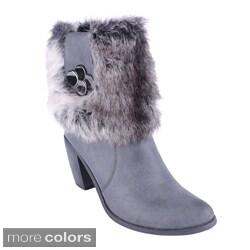 Reneeze Women's Chunky Heel Mid-Calf Boots