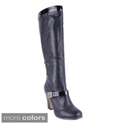 Reneeze Women's 'ALTA-03' High Heel Knee-high Boots