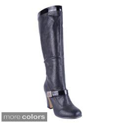 Reneeze Women's 'ALTA-03' High Heel Knee-high Boots