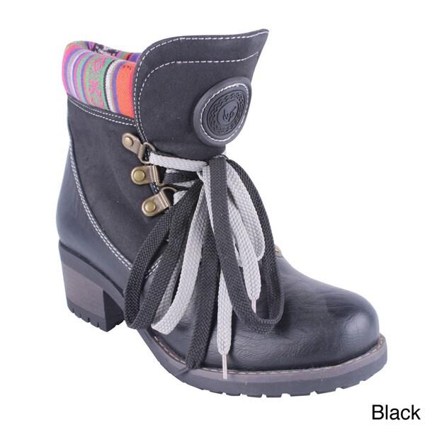 Reneeze Women's 'ANNIE-01' Lace-up Combat Ankle Boots