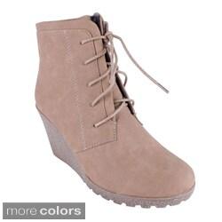 Reneeze Women's 'CHERRY-2' High Heel Wedge Ankle Boots