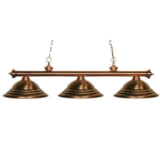 Riviera Antique Copper 3-light Billiard