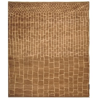 Safavieh Hand-knotted Aspen Walnut/ Ivory Wool Rug (8' x 10')
