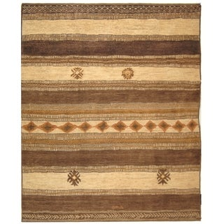 Safavieh Hand-knotted Aspen Ivory/ Walnut Wool Rug (9' x 12')