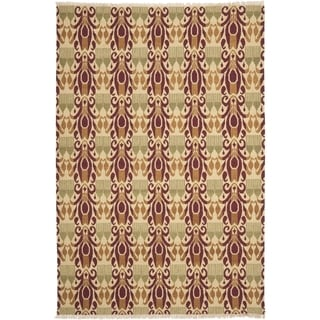 Safavieh Hand-knotted David Easton Lavender Henna Wool Rug (9' x 12')