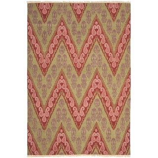 Safavieh Hand-knotted David Easton Mauve Pink Wool Rug (9' x 12')