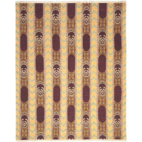 Safavieh Hand-knotted David Easton Root Brown Wool Rug (9' x 12')