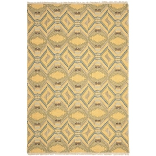 Safavieh Hand-knotted David Easton Saffron Yellow Wool Rug (8' x 10')