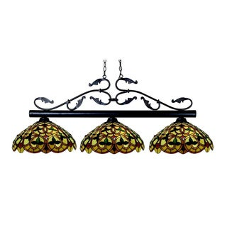 Bourbon 3-light Tiffany Chandelier