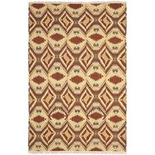 Safavieh Hand-knotted David Easton Paprika Wool Rug (8' x 10')
