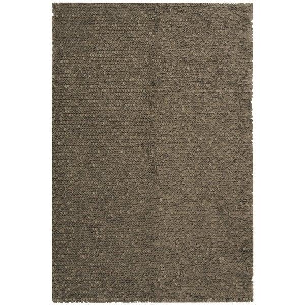 Safavieh Hand-woven Manhattan Grey Wool Rug (4' x 6')
