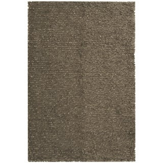 Safavieh Hand-woven Manhattan Grey Wool Rug (8' x 10')