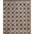 Safavieh Hand-knotted Mosaic Brown/ Cream Wool/ Viscose Rug (8' x 10')