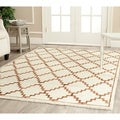 Safavieh Hand-knotted Mosaic Ivory/ Brown Wool/ Viscose Rug (6' x 9')