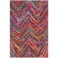 Safavieh Hand-made Nantucket Pink Cotton Rug (2'3 x 5')