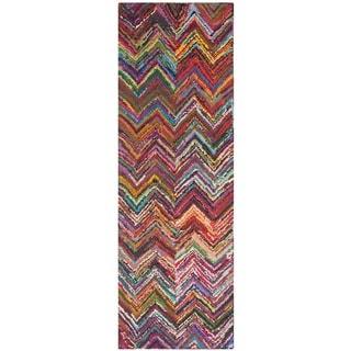 Safavieh Hand Made Nantucket Pink Cotton Rug 2 3 X 9