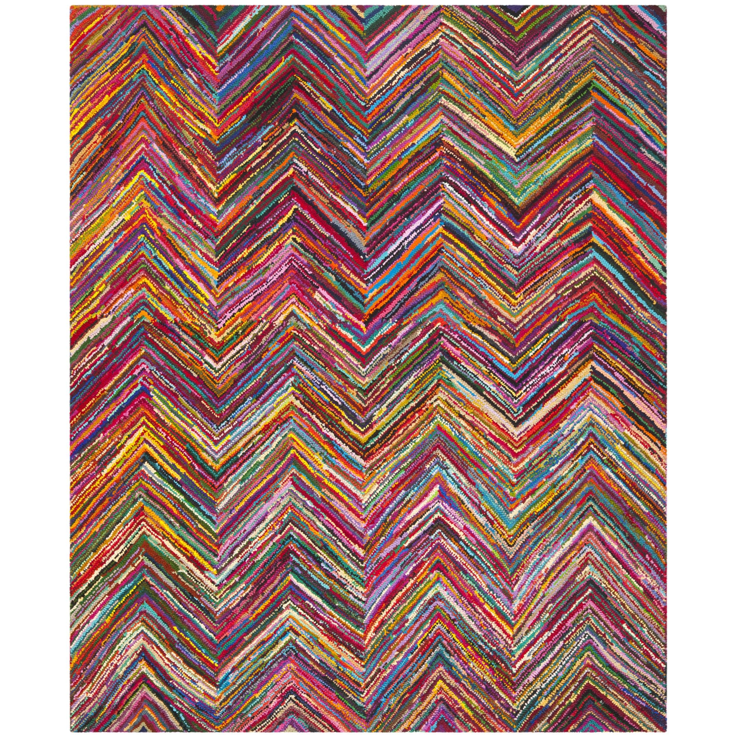 Safavieh Hand-made Nantucket Pink Cotton Rug (9' x 12')