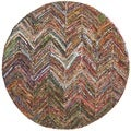 Safavieh Handmade Nantucket Multi Cotton Rug (6' Round)
