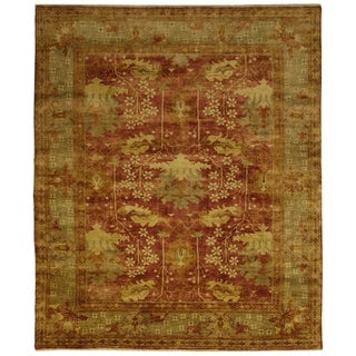 Safavieh Hand-knotted Oushak Red/ Green Wool Rug (8' x 10')