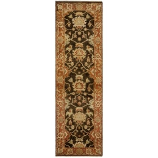 Safavieh Hand-knotted Oushak Brown/ Rust Wool Rug (3' x 10')